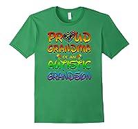 Autism Awareness Proud Grandma Of Autistic Grandson Shirts Forest Green