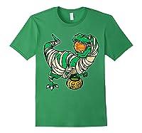 Funny Basketball Player T Rex Dinosaur Halloween Costume T-shirt Forest Green