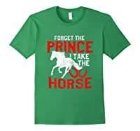 Rider Prefers Horses Shirts Forest Green