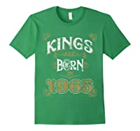Kings Are Born In 1965 Bday Gifts 55th Birthday Shirts Forest Green