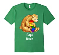 Papi Bear Proud Dad Lgbt Gay Pride Lgbt Dad Gifts Shirts Forest Green