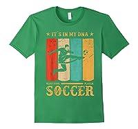 Retro Vintage Soccer Design 1970s T-shirt Forest Green