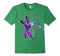 Hummingbird Purple Ribbon Pancreatic Cancer Awareness Shirts Forest Green