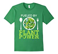 Fueled By Plant Power Vegetarian Shirts Forest Green