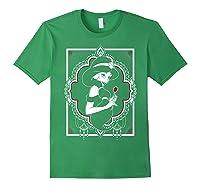 Disney Aladdin Jasmine Ornate Frame Rose Graphic T-shirt Forest Green