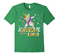 Dabbing Unicorn Awesome Since 1983 36th Birthday Gift 36 Yrs Shirts Forest Green