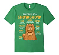 Chow Chow Funny Anatomy Of Mom Dad Dog Gift T-shirt Forest Green