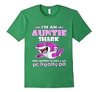 Auntie Shark - Who Happens To Cuss A Lot Doo Doo Doo Shirt Forest Green