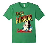 Vintage Horror Movie Poster Funny Halloween Shirts Forest Green
