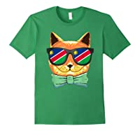 Namibia Flag Namibia Cat Sunglasses Shirt Forest Green