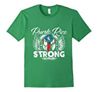 Puerto Rico Strong Flag T-shirt - Boricua Pride Love Tee Forest Green