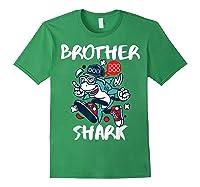 Brother Shark Doo Doo Bro Fun Uncle Birthday Gift Idea Shirts Forest Green