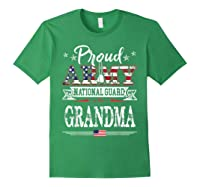 Proud Army National Guard Grandma U S Military Gift Shirts Forest Green