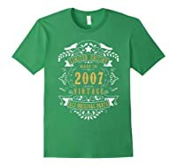 13 Years Old Made In 2007 13th Birthday, Anniversary Gift Shirts Forest Green