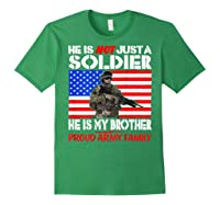 My Brother Is A Soldier Proud Army Family Military Sibling Shirts Forest Green