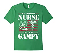 My Favorite Nurse Calls Me Gampy Father's Day Gif Shirts Forest Green