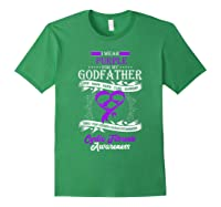 Wear Purple For My Godfather Cystic Fibrosis Support Shirts Forest Green