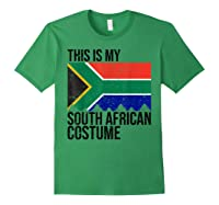 This Is My South African Flag Costume Design For Halloween Shirts Forest Green