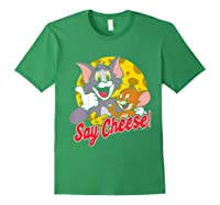 Tom And Jerry Say Cheese Portrait Shirts Forest Green