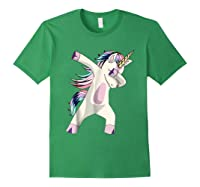 Dabbing Unicorn For Daughter Son Granddaughter Daddy Shirts Forest Green