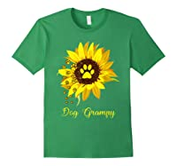 Dog Grampy Sunflower Gift Love Dogs And Flowers T-shirt Forest Green