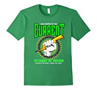 Funny Electrician Gift Electrical Engineer Lineman T-shirt Forest Green