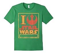 S Rebel Alliance Love Shirts Forest Green