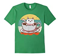 Coffee Cats Retro Vintage Gift T-shirt Forest Green
