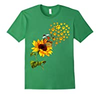 Dog Paw Sunflower You Are My Sunshine T-shirt Forest Green