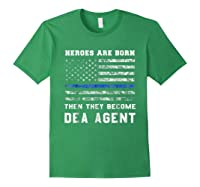 Agent Hero Born As An Officer Thin Blue Line Shirts Forest Green