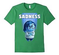 Pixar Inside Out Sadness Portrait Shirts Forest Green