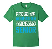 Proud Godfather Of 2020 Graduate Graduation Blue Themed Shirts Forest Green