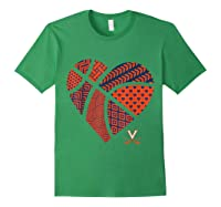 Virginia Cavaliers Patterned Heart Apparel Shirts Forest Green