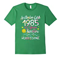 September Girls 1985 35th Years Old Awesome Since 1985 Shirts Forest Green