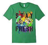 Splatoon Pride Stay Fresh Rainbow Paint Splat Shirts Forest Green