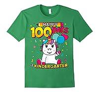 Unicorn Happy 100 Days School Kindergarten Girls Gift Shirts Forest Green