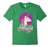 Free Mom Hugs Rainbow Lgbt Pride Unicorn T-shirt Gift Forest Green