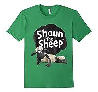 Shaun The Sheep Alt Logo With Shaun Shirts Forest Green