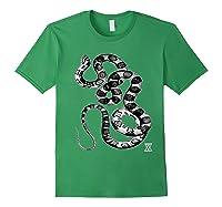 Snake Reptile Boas Herpetology Illustration Shirts Forest Green