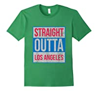 Straight Outta Los Angeles Basketball Shirts Forest Green