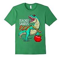 Teasaurus Rex - Funny Dinosaur Tea Appreciation Gift T-shirt Forest Green