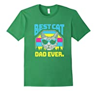 S Best Cat Dad Ever Cat Daddy Gift Premium T-shirt Forest Green