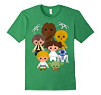 S Cute Kawaii Style Heroes Graphic C1 Shirts Forest Green