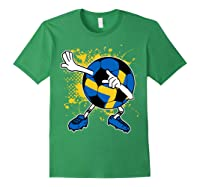 Dabbing Sweden Soccer Tshirt For Football Tee Forest Green