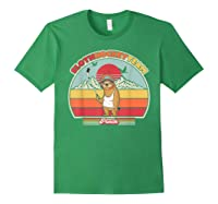 Sloth Hockey Team Shirt. Retro Style T-shirt Forest Green