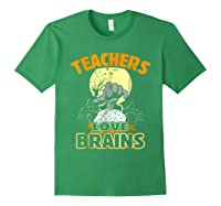Teas Love Brains Funny Halloween Costume Gift Shirts Forest Green