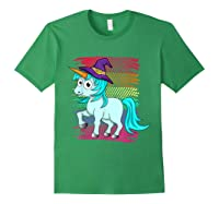Halloween Unicorn Pride Colors Shirts Forest Green