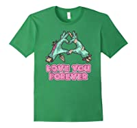 Love You Forever Zombie Heart T-shirt Forest Green