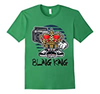 Hip Hop Bling King Shirts Forest Green