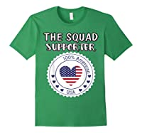 Proud Supporter Of Squad Aoc Pressley Omar Tlaib Shirts Forest Green